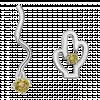 Bông tai bạc hình cây xương rồng PNJSilver Retro Forest đính đá màu xanh rêu 92349.410
