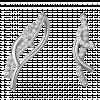 Bông tai bạc hình sừng nai PNJSilver Retro Forest đính đá 92370.100