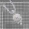 Mặt dây chuyền bạc PNJSilver Retro Forest đính đá