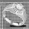 Nhẫn bạc nam PNJSilver đính đá 12492.100