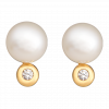 Bông tai PNJ vàng 14K đính ngọc trai FRESHWATER 89610.601