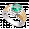 Nhẫn nam PNJ Vàng 10K đính đá màu xanh 86993.400