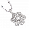 Vỏ mặt dây chuyền Kim cương PNJ Vàng trắng 18K 81689.5A1