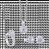 Bộ trang sức PNJ Vàng trắng 10K đính đá ECZ Swarovski