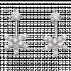 Bông tai PNJ vàng trắng 10K đính đá ECZ Swarovski 94363.100