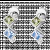 Bông tai PNJ 3Wishes Vàng trắng 10K mix đá Liquid Cabochon Swarovski 94629.400