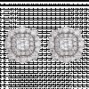 Bông tai PNJ Vàng trắng 10K đính đá ECZ Swarovski 94947.100