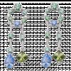 Bông tai PNJ 3Wishes Vàng trắng 10K mix đá Liquid Cabochon Swarovski 95221.400