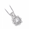 Mặt dây chuyền PNJ Vàng trắng 10K đính đá ECZ Swarovski 94948.100