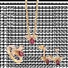 Bộ trang sức PNJ Sắc Xuân vàng 18K đính đá Ruby