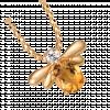 Mặt dây chuyền PNJ vàng 18K đính đá Citrine