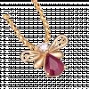 Mặt dây chuyền PNJ Sắc Xuân vàng 18K đính đá Ruby