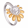 Nhẫn PNJ vàng 10K đính đá Swarovski 97431.100