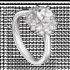 Nhẫn PNJ vàng trắng 10K đính đá Swarovski 97492.100