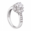 Nhẫn PNJ vàng trắng 10K đính đá Swarovski 97498.100