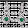 Bông tai bạc PNJSilver Fantasia đính đá màu xanh lá 92717.408