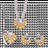 Bộ trang sức PNJ Sunflower vàng 10K đính đá Suncut Swarovski