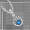 Mặt dây chuyền bạc PNJSilver Fantasia đính đá màu xanh dương 92719.401
