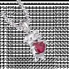 Mặt dây chuyền bạc PNJSilver hình con heo ôm trái tim màu đỏ 98367.001