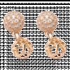 Bông tai Vàng 14K đính đá CZ PNJ 60001