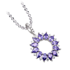 Mặt dây chuyền bạc đính đá màu tím PNJSilver Fantasia