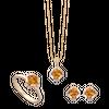 Bộ trang sức Vàng 18K đính đá Citrine PNJ 00033-00203