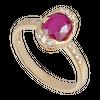 Nhẫn Vàng 18K đính đá Ruby PNJ RBXMY000553