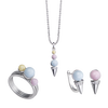 Bộ trang sức bạc PNJSilver Gem Melting