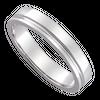 Nhẫn cưới Kim cương Vàng trắng 14K PNJ True Love 19 0000W000506