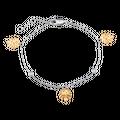 Lắc tay bạc hình lá monstera PNJSilver Retro Forest đính đá 92399.100