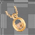 Mặt dây chuyền PNJ Vàng 14K đính đá CZ 95236.100