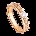 Nhẫn cưới Kim cương PNJ Vàng Son Vàng 18K 77097.5A0