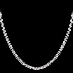 Dây chuyền PNJ vàng trắng 10K kiểu dây tròn bính