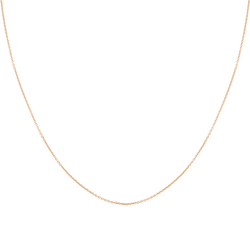 Dây chuyền PNJ vàng 18K dây đan kiểu chữ cong