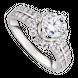 Nhẫn Vàng trắng 10K đính đá ECZ Swarovski PNJ XMXMW000128