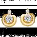 Bông tai PNJ Vàng 18K đính đá CZ