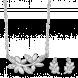 Bộ trang sức PNJ Mystery Vàng trắng 10K đính đá ECZ