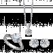 Bộ trang sức PNJ Vàng trắng 10K đính đá ECZ