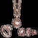 Bộ trang sức Vàng 10K đính đá ECZ Swarovski PNJ Hoa Hồng 00030-00017