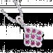 Mặt dây chuyền PNJ Phượng Hoàng Vàng trắng 14K đính đá Ruby 82008.600