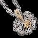Mặt dây chuyền Vàng 10K đính đá ECZ PNJ Hoa Sen XMXMC000042