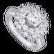 Nhẫn Vàng trắng 10K đính đá ECZ Swarovski PNJ XMXMW000160