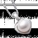 Mặt dây chuyền PNJ vàng trắng 14K đính ngọc trai Akoya