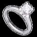 Nhẫn Vàng trắng 10K đính đá ECZ Swarovski PNJ XM00W000078