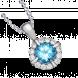 Mặt dây chuyền PNJ Vàng trắng 14K đính đá Topaz 70593.600
