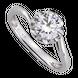 Nhẫn Vàng trắng 10K đính đá ECZ Swarovski PNJ XM00W000063