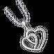 Mặt dây chuyền bạc trái tim PNJSilver đính đá