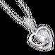 Mặt dây chuyền bạc đính đá PNJSilver hình trái tim XMXMK000122