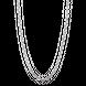 Dây chuyền bạc PNJSIlver dây đan kiểu chữ cong