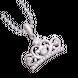 Mặt dây chuyền bạc đính đá PNJSilver My Princess hình vương miện XMXMK000244